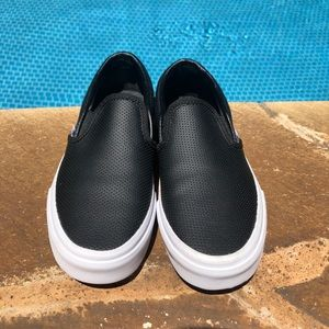 Vans perforated leather slip on sneaker BRAND NEW